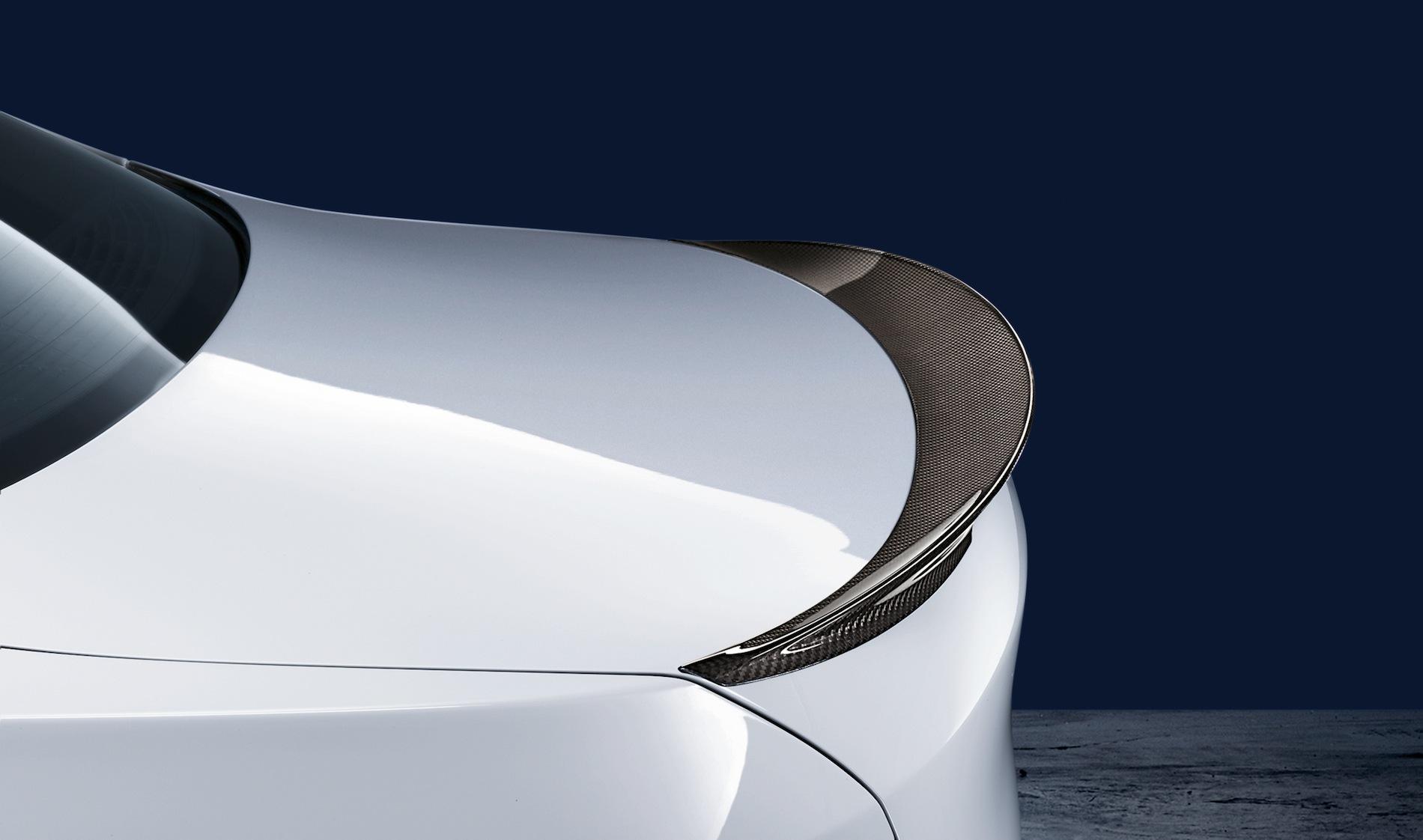 Bmw performance carbon fiber rear spoiler bmw f10 5 series m5