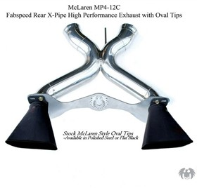 Fabspeed Rear X-Pipe High Performance Exhaust MP4-12C Stock Tips